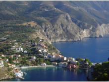 Den bedårande lilla byn Assos på Kefalonia