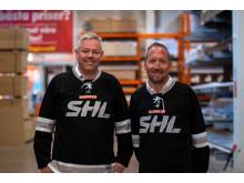 BAUHAUS VD Kenneth Litland och Marknadschef Johan Saxne