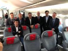 Primer vuelo en Buenos Aires - autoridades