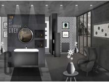 A modern bathroom with a long-life design: grey is a colour too!