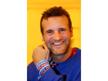 Richard Brown wearing World Cancer Day Unity Bands from Cancer Research UK _