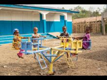Den nye barnehagen i Kareneh i Sierra Leone