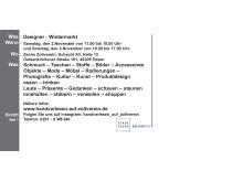 HANDVERLESEN Designer-Wintermarkt auf Zollverein