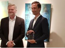 Clas Svensson och Marcus Wiklund 2017 års pris pressrum