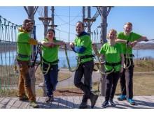 Team im Kletterpark am Markkleeberger See