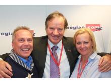 Bjørn Kjos sammen med Norwegians UNICEF-ambassadører