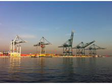 Cranes in the Port of Antwerp, Belgium