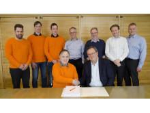 Den største anleggskontrakten i norsk vindkraft inngått mellom Fosen Vind og Johs J. Syltern as