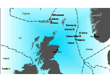 Map of Northern North Sea with location of the Mariner Field.