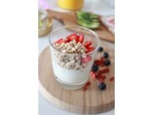 Havrehjärtan med mjölk och jordgubbar - 2