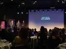 """Wille Stenvall tar emot priset """"Årets Leverantör"""""""