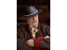 Zygmunt Kuchta w tradycyjnym, góralskim stroju