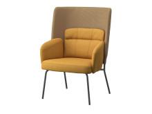 BINGSTA stol med høj ryg mørkegul 1299.-