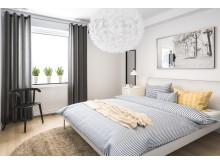Illustration över sovrum