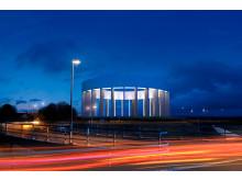 Nytt vattentorn i Helsingborg - Vy på natten
