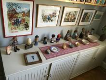Lisa Larsons figurer i Astrid Lindgrens lägenhet på Dalagatan