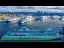 Tallink Silja Schiffe im Hafen von Tallinn