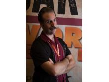 Stefan Jadefjord från Svenska Mustaschklubben, huvuddomare i World Beard Days skäggtävling.