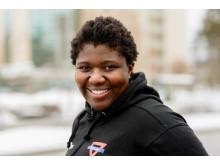 Årets ledare Caroline Muzito-Bagenda, en av fritidsnämndens stipendiater 2018