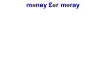 Money for Moray logo