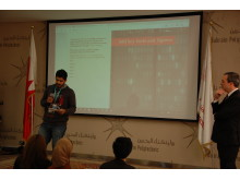 Presentation practice at the Bahrain Polytechnic
