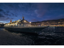 Boudicca in Funchal Madeira at night