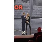 Fitness-Influencerin Sophia Thiel wurde als Überraschungspreisträgerin geehrt.