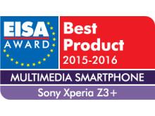EISA 2015 Logo Xperia Z3+