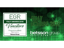 Betsson Group Affiliates - Best Affiliate Programme - EGR Italy Awards 2018