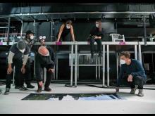 Asisi überprüft mit seinem Team die Szenen im Panorama