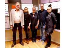 Bernt Wennström,  utvecklingssekreterare & Annica Oscarsson, centrumutvecklare. Sussi Forsberg, Johan Nilsson och Erika Drugge, Synsam Gällivare.