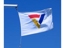 Scandlines-logo på flag