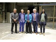 Das Team des Kunstkraftwerks und die Immersive Art Factory aus Italien