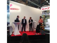 Moderator Christian Lacotte, Torbjörn Lundgren, Johan Öhnell och Lars Andrén