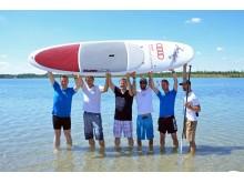 Im Rahmen seiner Sommertour weilten Martin Dulig und seine Delegation auch am Schladitzer See