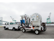 Cavotec AMP Mobile unit poised for action at the Port of Los Angeles