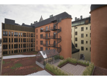 Etapp 1, ny utformning fasad och takterrass