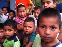 Skolbarn i La Cumplida, Nicaragua