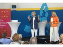 Medverkande: Anna Maria Corazza Bildt, ledamot, EU-parlamentet •Alexandra Charles, ordförande, 1,6 & 2,6 miljonerklubben