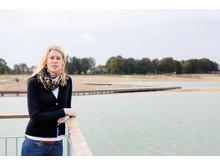 Karin Fernström vid Råbysjön, Lunds kommuns största dagvatten magasin