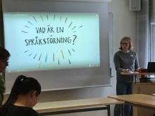 Elin Solli föreläser om språkstörningar i Nackas kommunala skolor