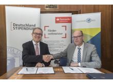 Vertragsunterzeichnung Santander und Freie Universität Berlin