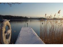 Vinterbrygga på Djurönäset