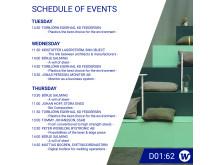 Elmia Subcontractor 2019 - Weland Group Schedule of Events