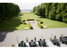 Utsikt över slottsparken