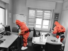 Eindämmung COVID 19 in Raumcontainernäumen