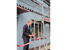 Bostadsminister Per Bolund invigde Veidekkes nya bostadskoncept