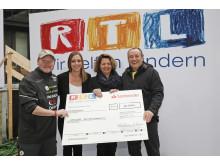 Spendenübergabe an Stiftung RTL
