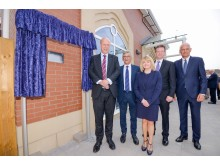 Official plaque unveiling at Kenilworth station