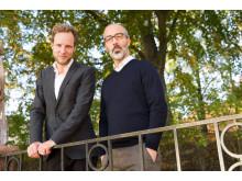 """Bo-Göran Bodin och Alexander Gagliano, Ekot, Sveriges Radio. Nominerade år 2015 i kategorin Årets Avslöjande för """"Kvinnoregistret""""."""